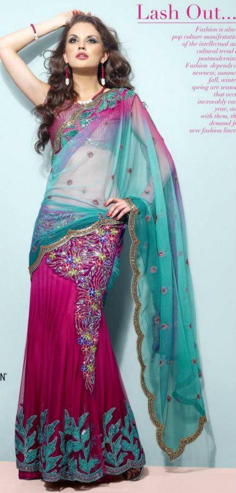 Ready-to-wear-one-minute-saree-lehenga-Online