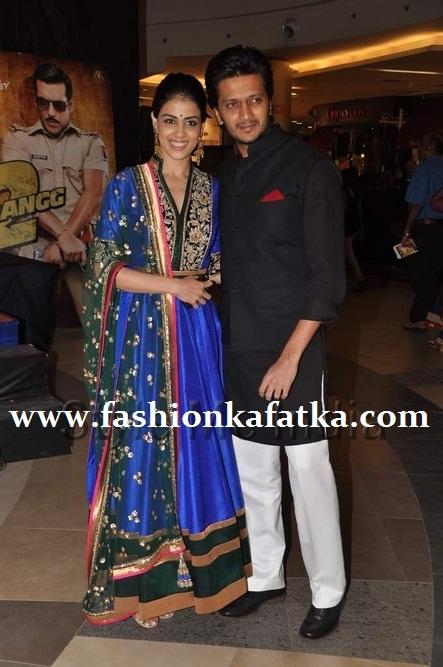 Genelia-D'Souza-wears-Manish-Malhotra-at-Dabangg-2-premiere1