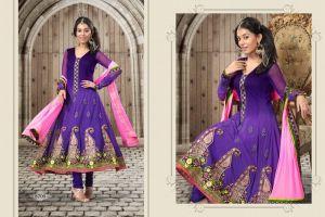 Amrita Arora Purple Anarkali