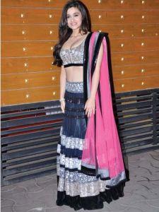 Alia Bhatt Black Lehenga Choli Filmfare Idea Awards