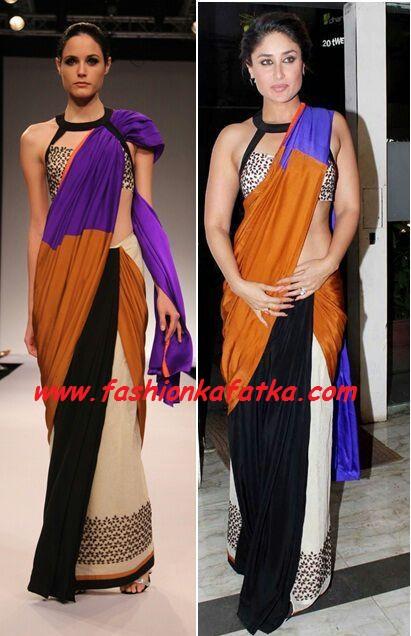 Kareena Kapoor sizzles in saree from Lakme Fashion Week 2013